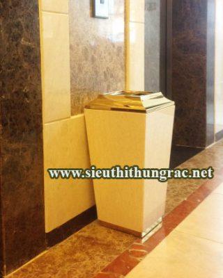 thùng rác đá cẩm thạch A013