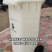 thùng rác 120 lít trắngt