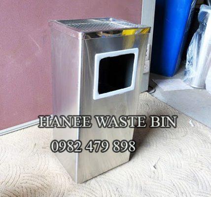 thùng rác gạt tàn hình chữ nhật