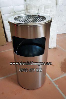 thùng rác inox gạt tàn A35B