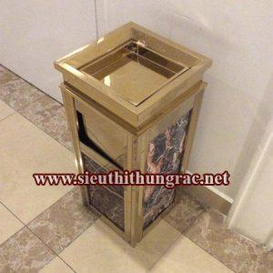 thùng rác đá hoa cương A14