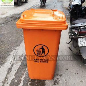 thùng rác nhựa 240 lít màu cam