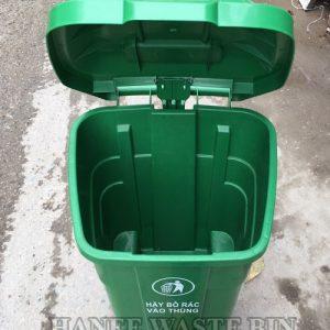 thùng rác nhựa 70 lít đạp chân