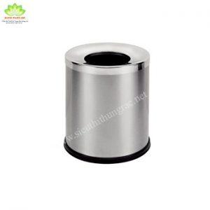 thùng rác inox nắp hở