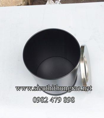 thùng rác đen nắp hở 250x305 mm