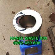 thùng rác inox nắp hở 250×305 mmmm