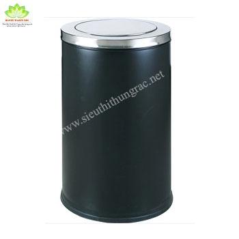 thùng rác inox nắp lật 480x830 mm