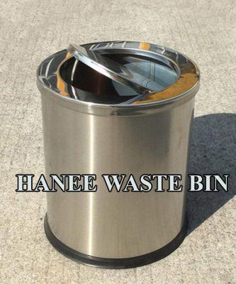 thùng rác inox nắp lật 250x305 mm