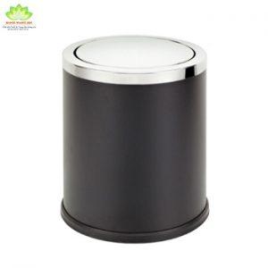 thùng rác inox nắp lật đen 250x305 mm