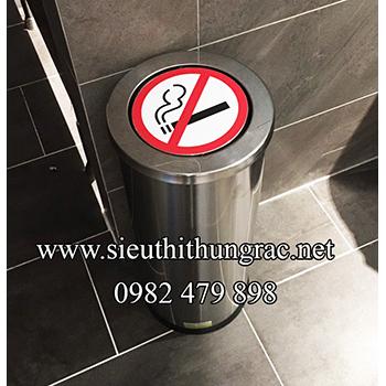 thùng rác inox nắp lật