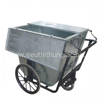 xe gom rác 500 lit co nap day