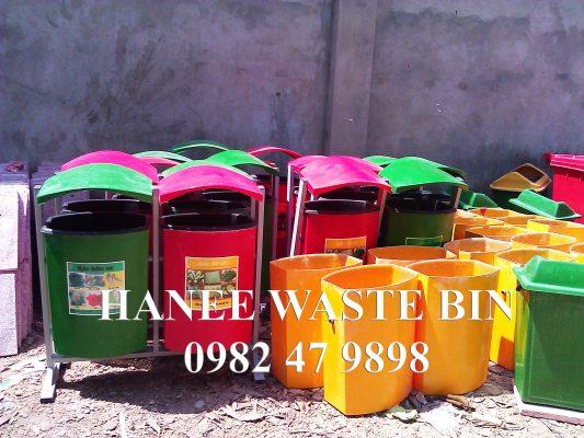 thùng rác composite treo đôi