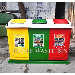 thùng rác nhựa composite ba ngăn