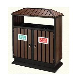 thùng rác gỗ đôi HN-308