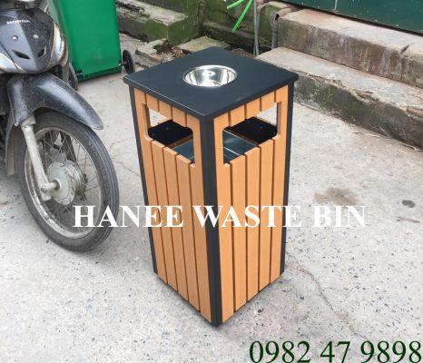 thùng rác gỗ đơn HN-36