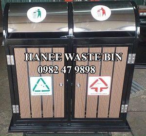 thùng rác đôi ngoài trời