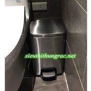 thùng rác inox đạp chân GNF 8L vuông