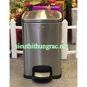 thùng rác inox đạp chân GNF 12L vuông