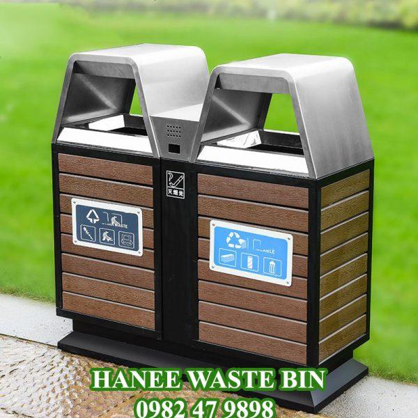 thùng rác hai ngăn hw88